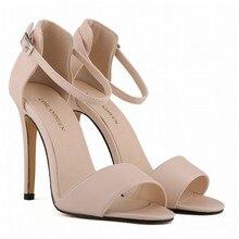 LOSLANDIFEN Womens Pumps 11cm Open Toe Ankle Straps High Heels Summer Shoes Women Bridal Pumps