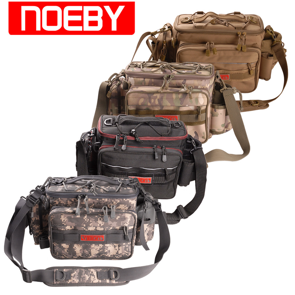 NOEBY Multifunction Fishing Bag 27.5X21X11cm Outdoor Waist Bag Fishing Tackle Cover Lure Case Bolsa Para Pesca Grande Backpack