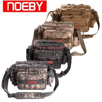 NOEBY-Bolsa de Pesca multifunción de 27,5x21x11cm, Bolsa de cintura Para exteriores, cubierta...