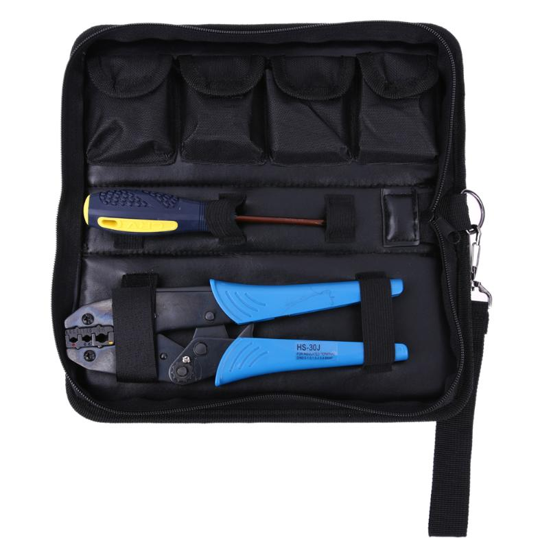 0.5-6mm Crimping Tool Image to Zoom 5 Dies Ratchet Crimper Crimping Tool Kit 0.5-6mm2 Multi Tools Hands Pliers With Oxford Bag 10mm to 45mm portable hand hydraulic hose crimping tool with 7 sets of dies