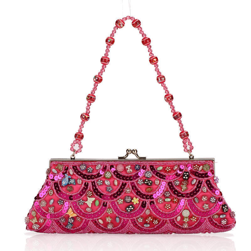 ФОТО Chaozhou Moonlight Beaded Flower Package European Fashion Dinner Package Restore Ancient Ways Woman Bag Ma'am Package 99828