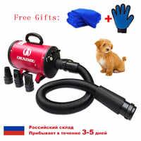 Bs2400 sèche-cheveux pour chiens faible bruit sèche-chien forte puissance sèche-animal de compagnie vitesse en continu pour le séchage des chiens navire de moscou