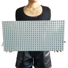 Big Bricks Baseplate 16*32 24*24 Dots DIY Base Plate Big Building Blocks Toys For Children Kid Compatible Leogoed & Duplos стоимость