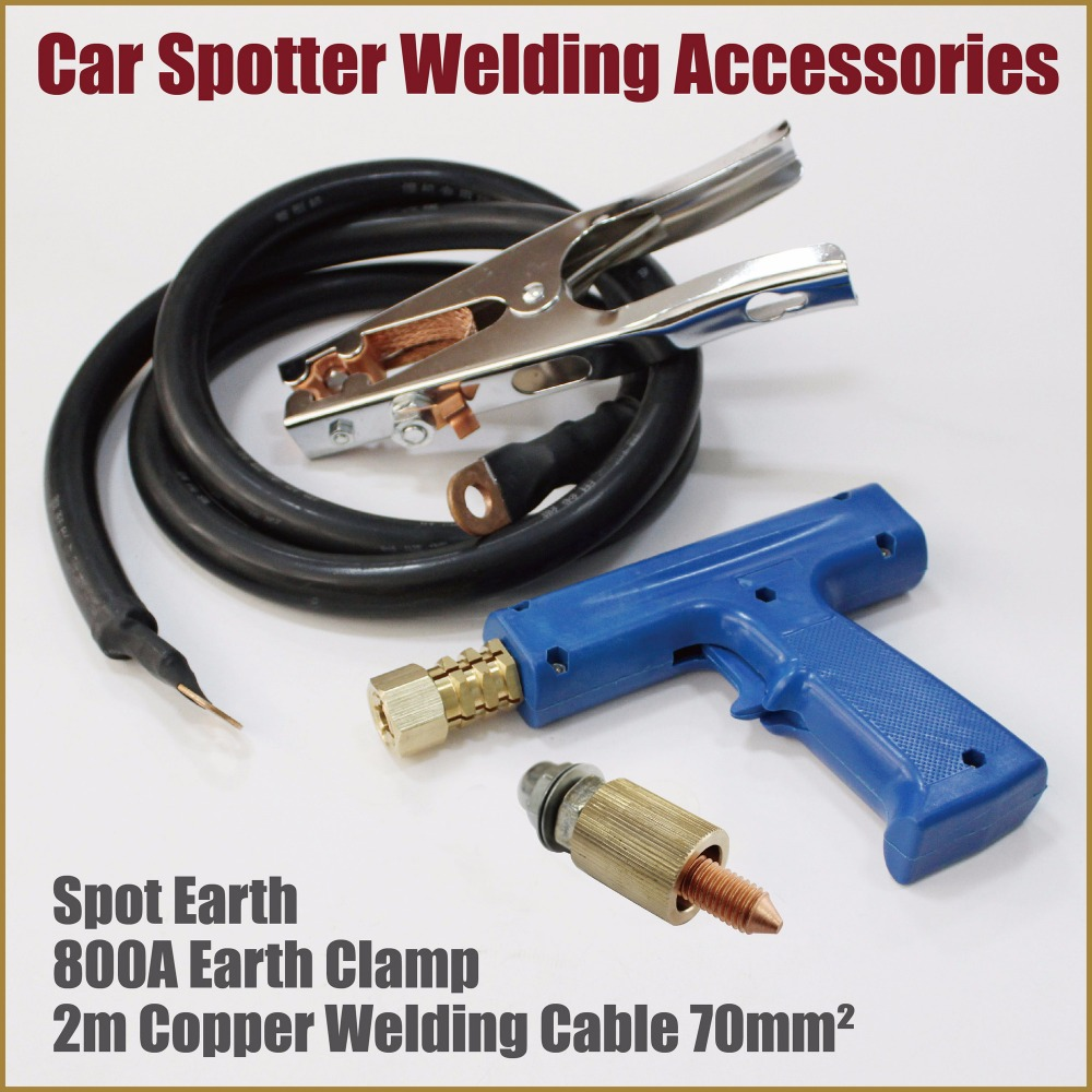 dent puller welder car spotter welding tools kit gun clamp grounding earth body works garage workshop equipment remove dents tip ...