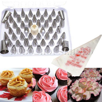EASY USE 52Pcs Icing Piping Nozzle Set Bag Cake Decorating ...