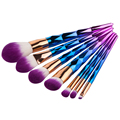 New 7pcs Diamond Rainbow Unicorn Makeup Brushes Set Foundation Eyshadow Blusher Powder Blending Cosmetic Brushes beauty Tool Kit