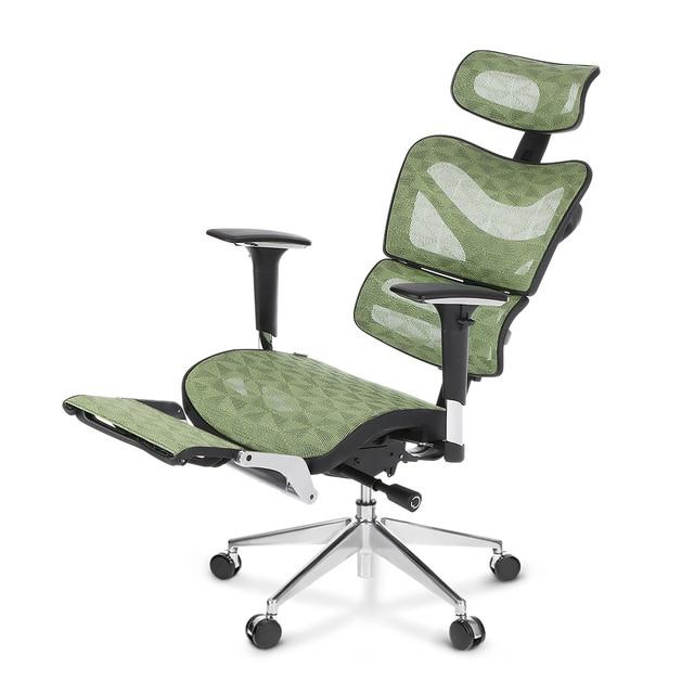 Ikayaa Mesh Ergonomic Office Chair Swivel Tilt Executive Computer Desk W Footrest Headrest Lumbar