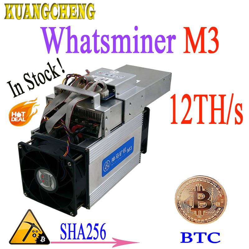 ¡24 horas de entrega! Asic minero WhatsMiner m3 M3X + PSU 12-13TH/S 1,8-2.1kw BTC minero mejor que WhatsMiner M3 T9 v9