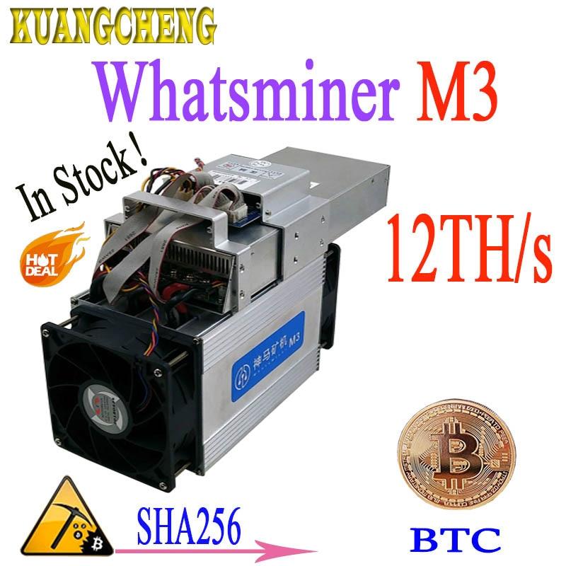 24 heure livraison! Asic mineur WhatsMiner m3 M3X + PSU 12-13TH/S 1.8-2.1kw BTC minière Mieux que WhatsMiner M3 T9 v9