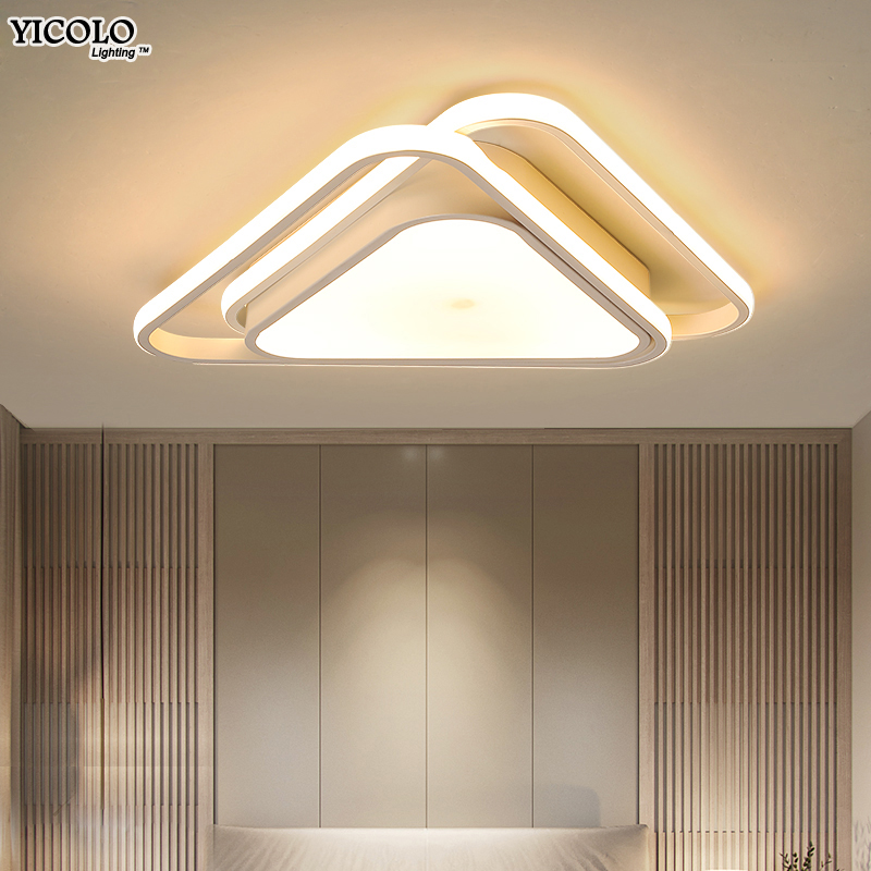 Acrylic Modern ceiling lights for living room bedroom White Simple surface mounted led ceiling lamp home lighting fixtures round thin iron acrylic geometry ceiling light fixture surface mounted modern simple plafon lamp for hallway bedroom living room