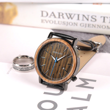 BOBO BIRD WO27 2017 Newest Wooden Metal Watch for Men Brand Design Lightweight Quartz Watches Calendar