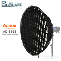 Godox Portable 85cm AD S85S built in silver Deep Parabolic Softbox with honeycomb grid Godox Mount softbox for AD400PRO flash