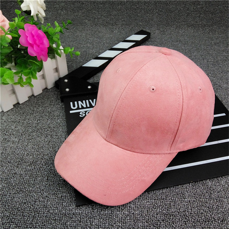 SexeMara 2017 Suede Light Body Baseball Cap Curved Canopy Cap Caps Tongue Light Board Solid Color Leisure Sun Hat Couple Hat 129 chic ice cream color suede baseball hat