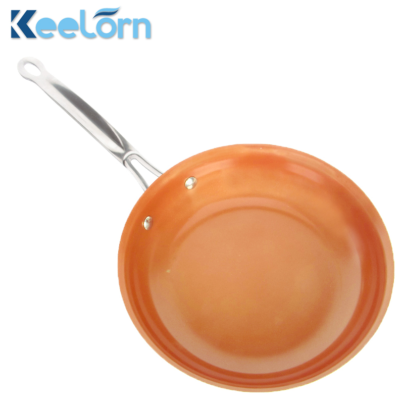 16 cm 18 cm 20 cm Non-bastone di Rame Padella con Rivestimento In Ceramica e Induzione di cottura, forno a microonde e Lavabili In Lavastoviglie