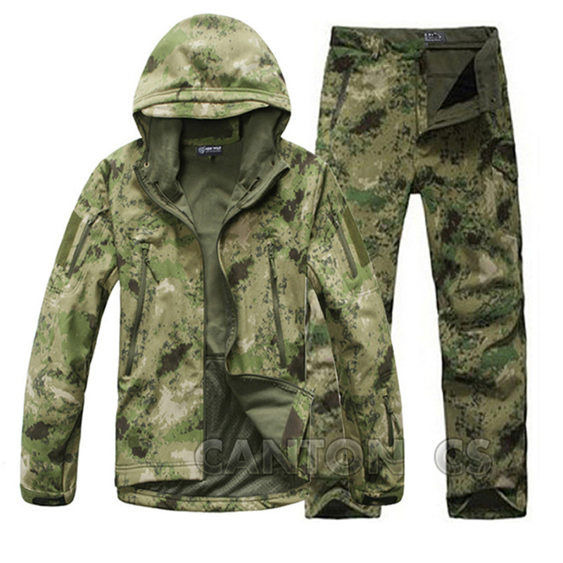 Tad V4 0 Shark Skin Softshell Outdoor Camouflage font b Hunting b font Windproof Clothes Tactical