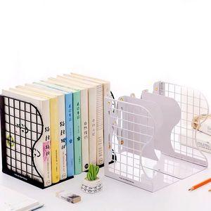 Image 2 - 1PC Creative Rabbit Cat Grid Metal Adjustable Reading Book Bookends Stand Holder Bookshelf Document Magazine Organizer Holder