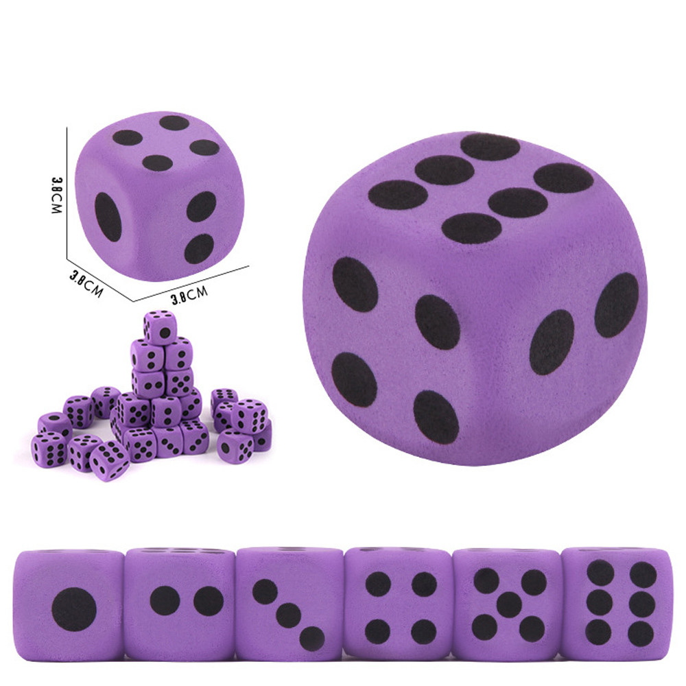 1PC Specialty Giant EVA Foam Playing Dice Block Party Toy Game Prize For Children The Best Educational Montessori Toy Tool  7.11