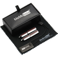 MMS Red Folding Stick Cufflink Display Box Wiping Rag And Tag Gift For Men Or Groomsmen