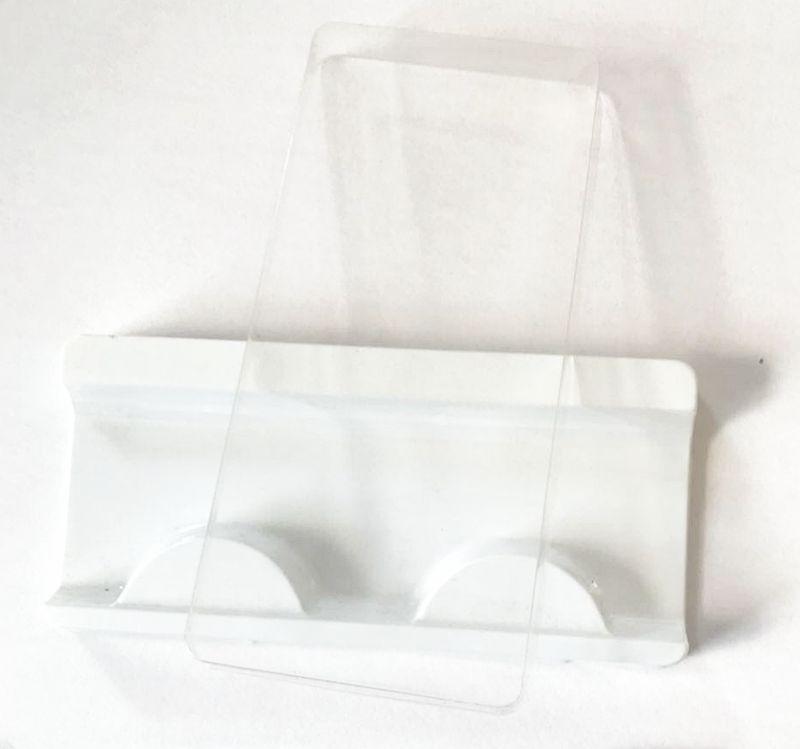 10 Set/lot Square Packing Box For 25mm Long Eyelash Blank Eyelashes Plastic Package Transparent Lid Tray Eyelashes Packing Box