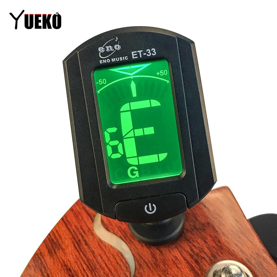 buy yueko guitar tuner eno et 33 tuning for guitar bass violin ukulele gutiar. Black Bedroom Furniture Sets. Home Design Ideas