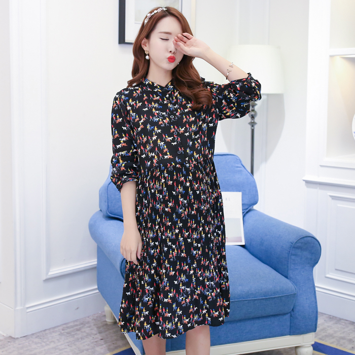 Make spot fall pregnant women pregnant women pregnant women chiffon dress fashion maternity big yards dress skirt