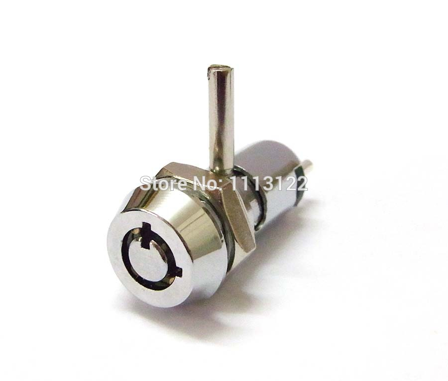 High Quality 4 Pins 12mm Brass Key Switch Lock With Cam