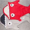 Cartoon Shark Baby Sleeping Bag Bed Swaddle Blanket Wrap Lovely Bedding Infant Sleeping Bag Newborns Winter Warm Strollers