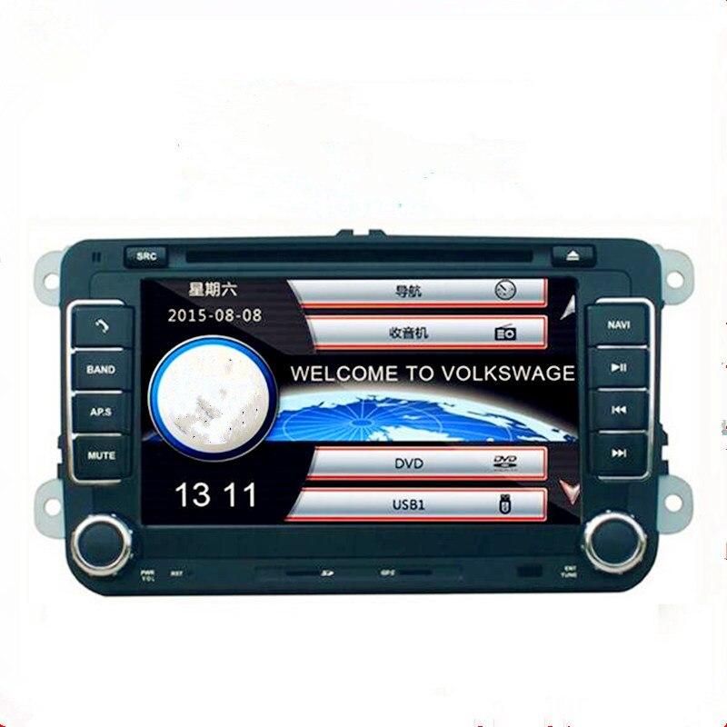 Lecteur DVD de voiture deux Din 7 pouces pour POLO pour siège de Golf avec Wifi 3G hôte Radio GPS Bt 1080 P Ipod RDS carte lecteur DVD de voiture