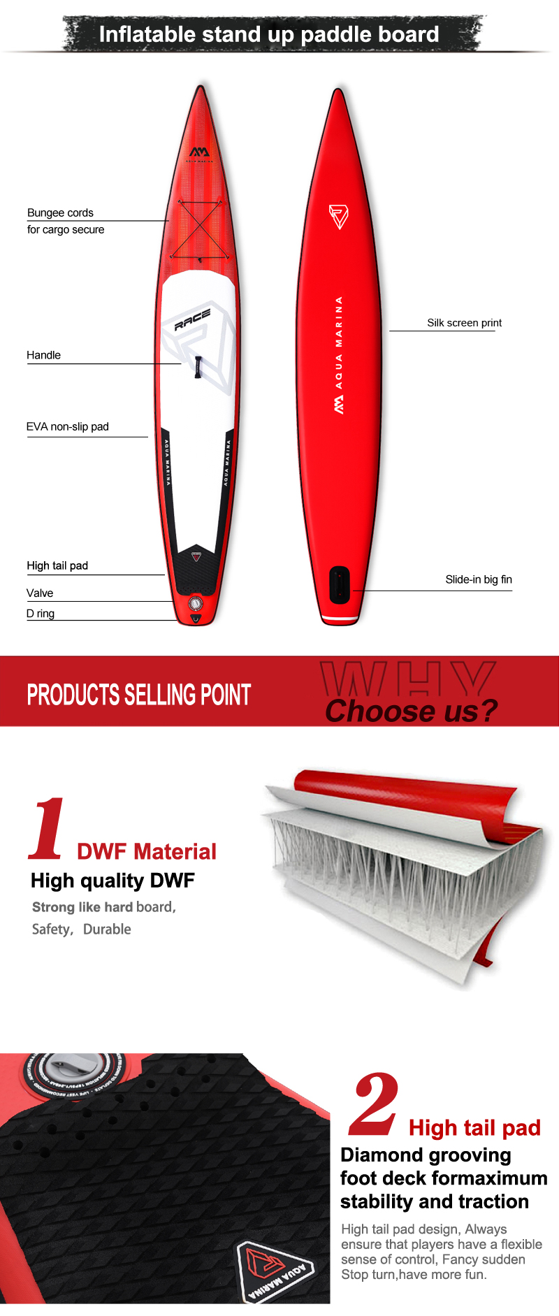Aqua marina new design BT19RA stand up paddle board