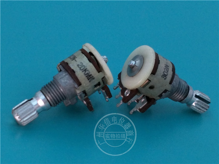 Original new 100% Japan import 12 type 125G double potentiometer MN20K 15MM floral axis intermediate point (SWITCH)