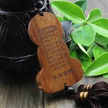 Wood Craved Buddhism-Inspired Pedants