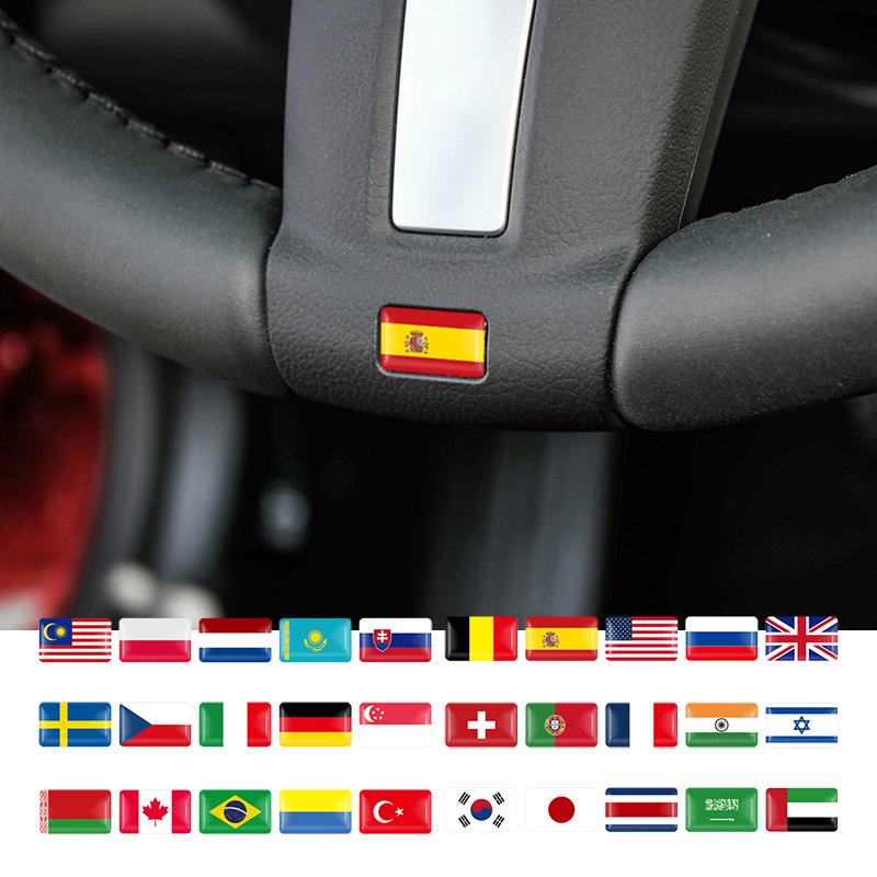 10PCS Car Styling National Flags Stickers For Countries Map Travel Sticker To DIY Scrapbooking Suitcase Laptop Car Motorcycle