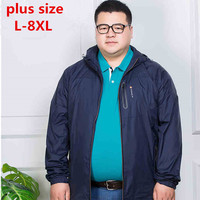 Plus Size 8XL 7XL 6XL 2017 New Spring Summer Mens Fashion Outerwear Windbreaker Men S Thin