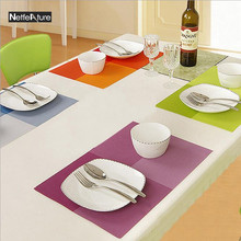 Anti-Hot Waterproof Table Placemat Western Restaurant Table Decoration Coffee Tea Place Mat Plate Bowl Tableware Pad 11Colors