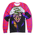 Hot Sale Sweatshirts 3D Printed Joker Crazy Laughing Man Print Crewneck Fashion Men Women Pullovers Tops Fitness Hoodie
