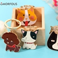 1PC cute cartoon puppy animal alloy key ring car key ring bag accessories pendant Gift Promotion Advise