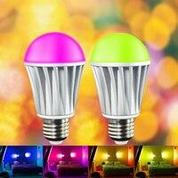 7 5W E27 RGBW LED Bulb Light Bluetooth 4 0 Smart LED Bulb Timer Color Changeable