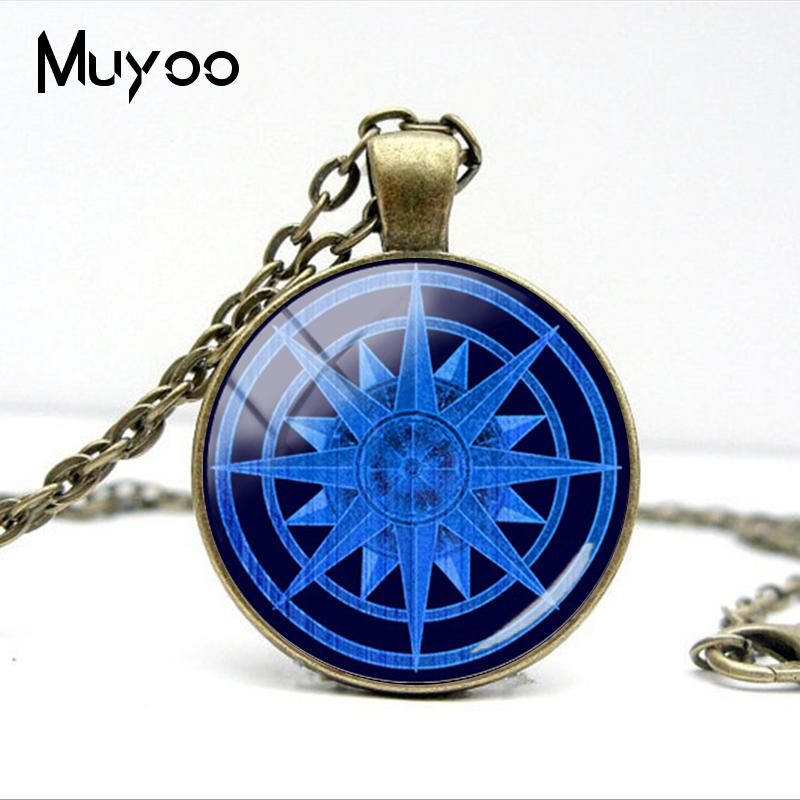 HTB1oZEfVZfpK1RjSZFOq6y6nFXaf - Vintage Old Compass Rose Steampunk Style Glass Cabochon Pendant Necklaces Glass Color Compass Jewelry Nacklace Gifts
