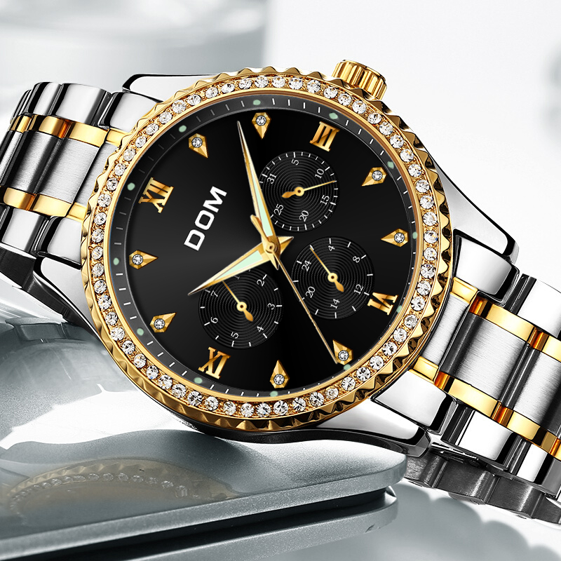 DOM Mens Watches Top Brand Luxury Waterproof Gold Quartz reloj de - Relojes para hombres - foto 4