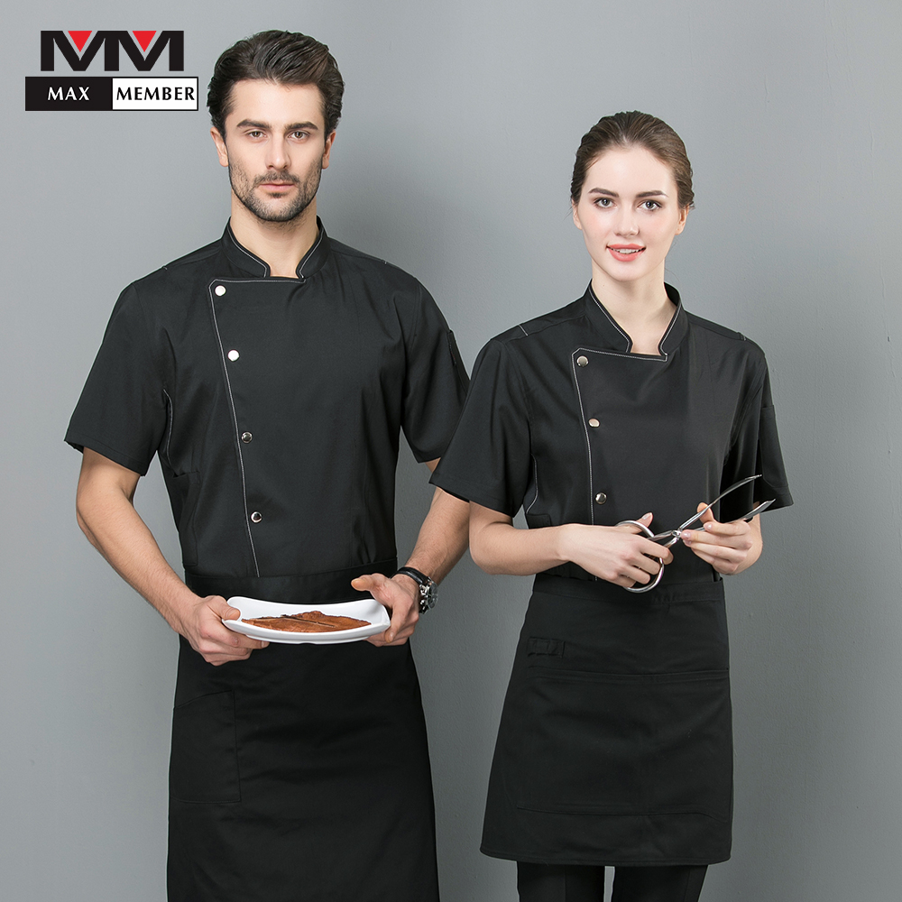2019 Chef Jacket Bakery Bright Colored Lines Hotel Restaurant Panaderia Accesorios Chef Work Clothes Shirt Unisex Sushi Uniform
