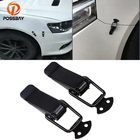 POSSBAY Car Truck Security Hook Lock Clip Kit Universal Clip For Racing Car Truck Hood Quick Release Fastener Auto Body Stickers