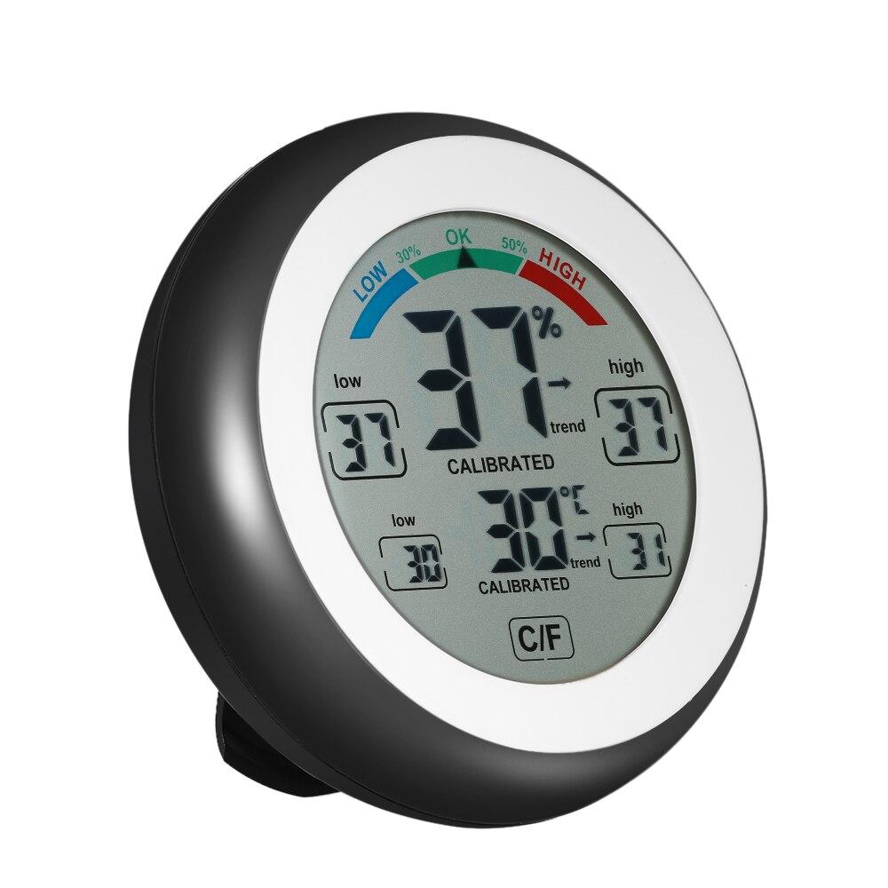 Neue Digitale Thermometer Hygrometer praktische temperaturanzeige Luftfeuchtigkeit Meter uhr wand Max Min Wert Trend Display C/Funit