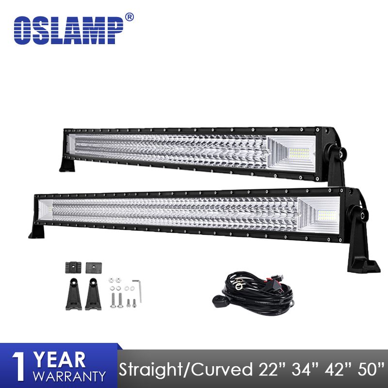oslamp-led-light-bar-22-34-42-50-straight-curved-work-light-fit-4x4-truck-atv-rzr-trailer-car-roof-offroad-driving-bar-light