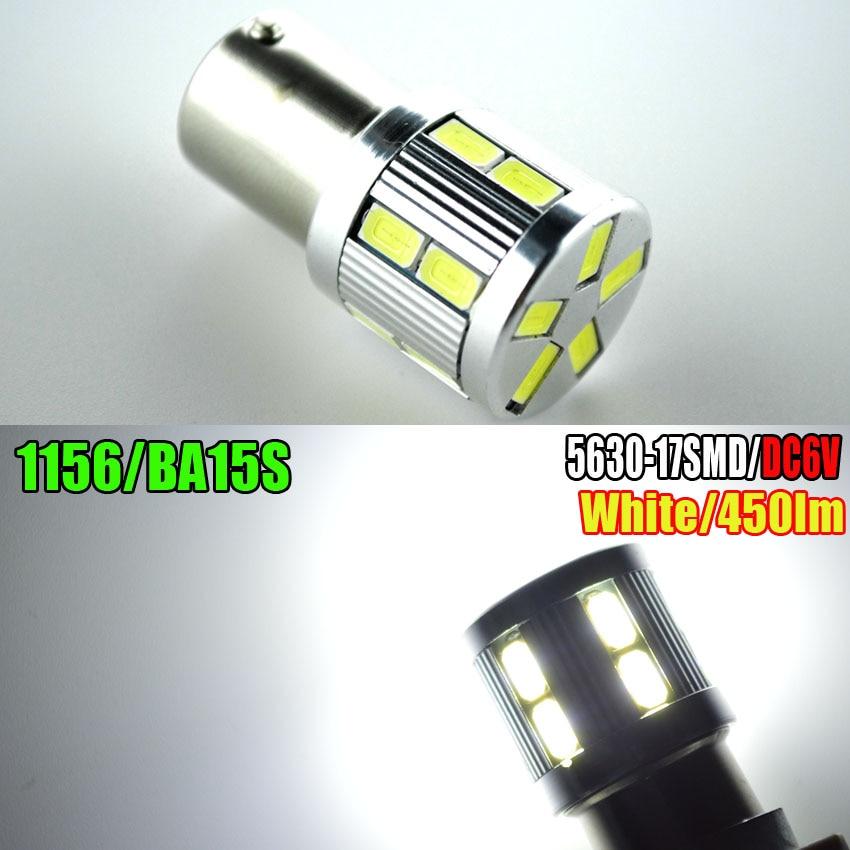 1pc 6V 1156 BA15S Bright 360-Degree led Bulbs p21w R5W Light 17 5630Chips-For car Brake Tail Light Reverse Signal Bulbs White светильник встраиваемый bright light 3x0 39w massive 59056 17 15