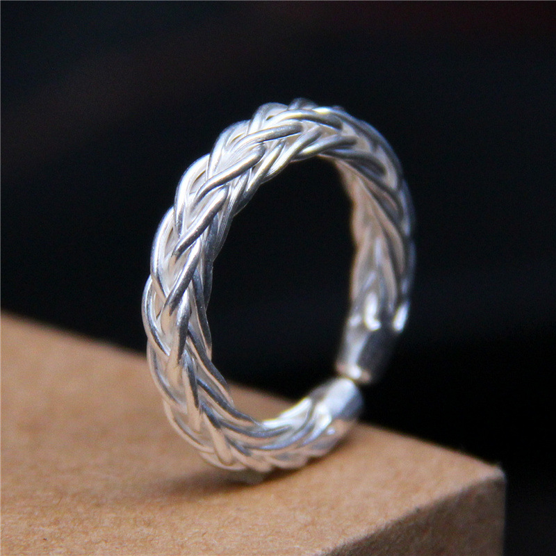 925 Sterling Silver Braided Twisted Ring