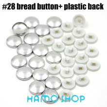 100sets/lot #28 Free Shipping Plastic Back Bread Shape Round Fabric Covered Cloth Button Cover Metal Jewelry Accessories