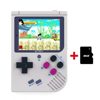 BittBoy V2 Video Game Console, Portable Retro Handheld + 8GB Memory Card, CFW Installed, GBA/ SNES/ SMS/ SMD/NES/PSX/ NeoGeo USB-флеш-накопитель