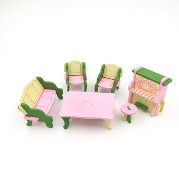 1:12 Dollhouse Miniature Furniture Wooden Creative Bathroom Bedroom Restaurant For Kids Action Figure Doll House Decoration Doll - 90543