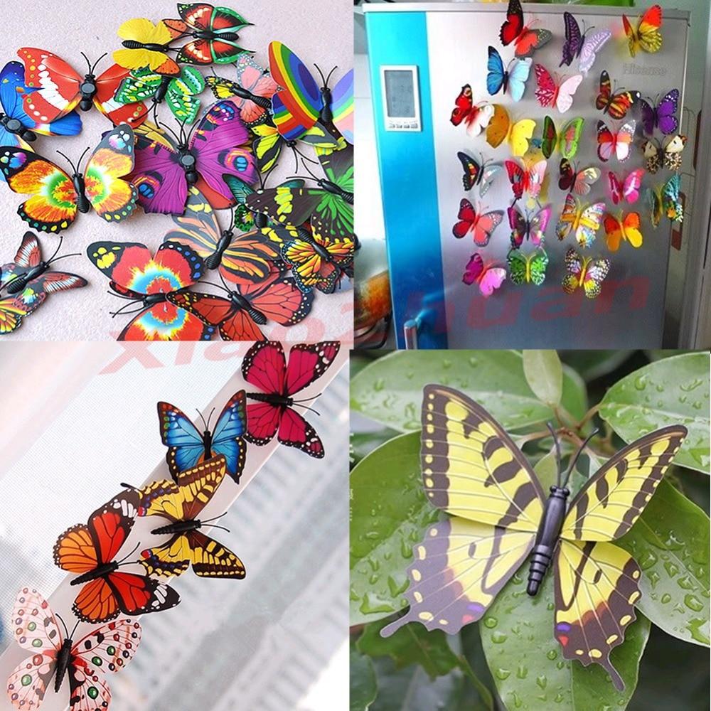 10 Pcs Kamer Wanddecoratie 3d Vlinder Koelkast Magneten Magnetische Sticke Om Hinder Uit De Weg Te Ruimen En De Dorst Te Lessen