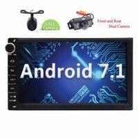 Eincar Android 7.1 Nougat 2din Car Stereo GPS Navigator Autoradio Bluetooth Front Reverse Camera Headunit support Wifi/4G USB/SD